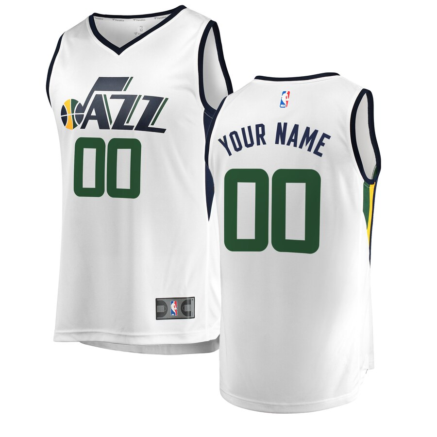 Utah Jazz Custom Letter and Number Kits for White Jersey