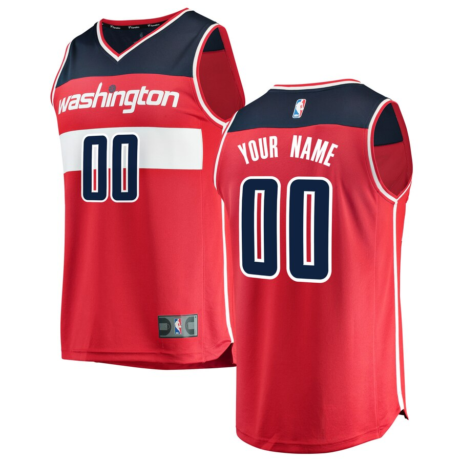 Washington Wizards Custom Letter and Number Kits for Red Fast Break Jersey